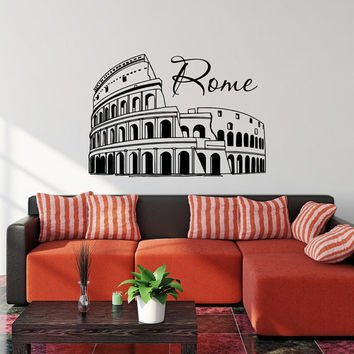Colosseum Costumes (Gift Wall Vinyl Sticker Decals Mural Design Colosseum Rome City Italy #389)
