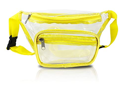 Clear Fanny Pack Stadium Security Approved Waist Bag for Events, Games, and Concerts Transparent (yellow)