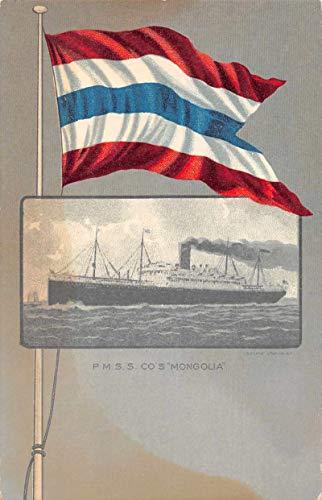 - PM SS Co's Mongolia Steam Ship Vintage Postcard JC932118