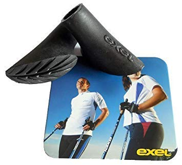 - EXEL Sports of Finland Nordic Walking Rubber Tips/Asphalt Paws. These are Not Crappy Rubber Tips from China! May Not Fit Flimsy Collapsible Poles Flooding The USA from China Here On Amazon