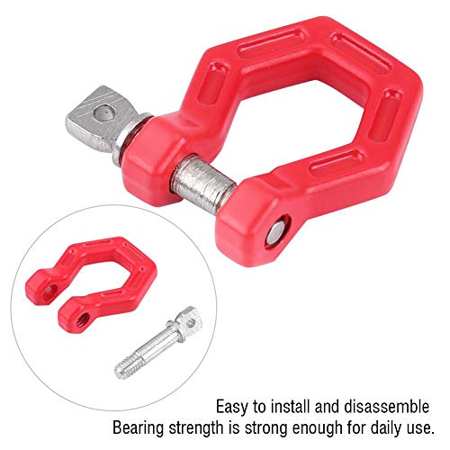 8 Pcs Metal Tow Shackle Rescue Lock Catch for RC Climbing Crawler Car Accessory Parts Dilwe RC Car Trailer Buckle