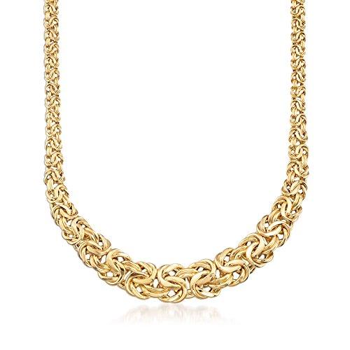 Ross-Simons Italian 14kt Yellow Gold Byzantine Necklace 14kt Gold Byzantine Necklace