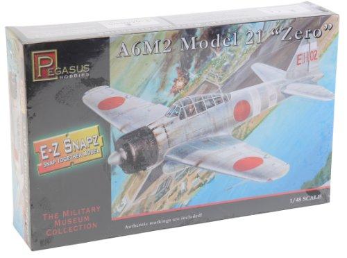 A6M2 Model 21 Zero Fighter (Snap Kit) 1-48 Pegasus