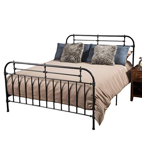 (Christopher Knight Home 295791 Yucatan King Charcoal Iron Bed,)