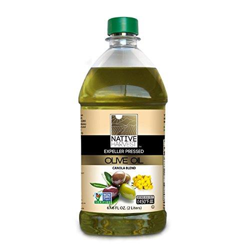 Native Harvest Expeller Pressed Non-GMO Olive/Canola Oil Blend, 2 Litre (67.6 FL OZ)