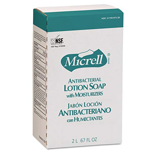 Micrell Nxt Antibacterial Lotion Soap - MICRELL 225704 Antibacterial Lotion Soap, Amber, NXT 2000 ml Refill (Case of 4)