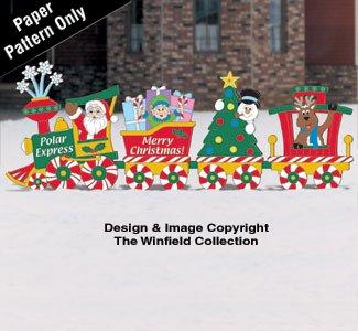 Christmas Train Woodcraft Pattern