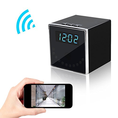 Wireless Spy Hidden Camera, Corprit 1080P WiFi Home Security Camera Table Clock Nanny Cam