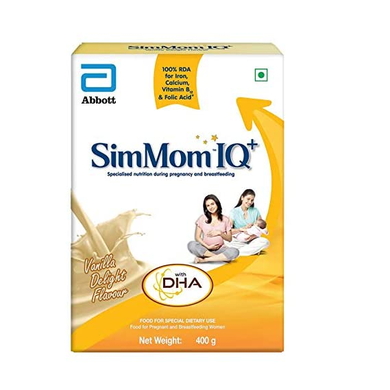 SimMom IQ+ Maternal Nutrition with DHA Health Drink - 400g (Vanilla)