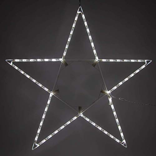 Kringle Traditions 48″ Lighted Christmas Star Outdoor Star Light, Cool White LED Christmas Star Decoration Folding Outdoor Star Decor