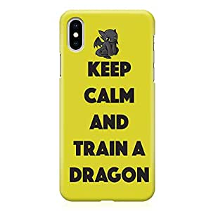 Loud Universe Train your Dragon iPhone XS Max Case Yellow Type iPhone XS Max Cover with 3d Wrap around Edges