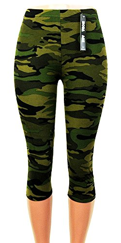 Moda Age Women's Ultra Soft Brushed Best Patterned Printed Leggings - Regular Sizes (Size 0-14) (Plus (Size 16-24), Camouflage) (Wonder Woman Running Outfit)