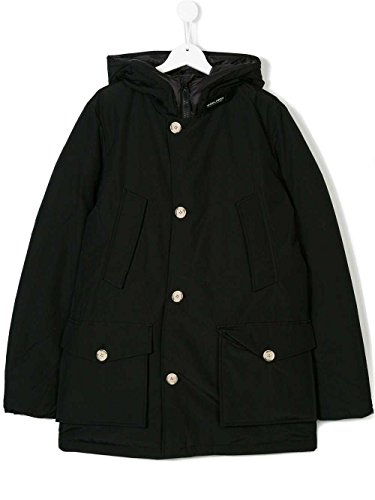 Wkcps1987 Bambino Giubbotto Nero B's Woolrich Parka Artic 12 Tg Col 51BfqfXwd