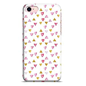 Loud Universe Valentines Gift Love Heart Pattern Clear Edge Tough New Wrap Around iPhone 7 Case - White