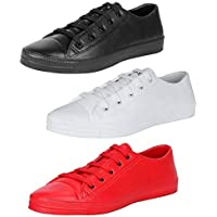 JBF Candico Men's Sneakers Casual Shoes Combo - Pack of 3
