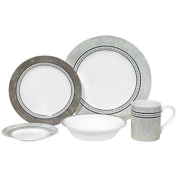 Breathtaking Corelle Dinnerware 20 Piece Set Pewter Contemporary ...