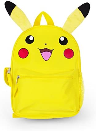 FAB Starpoint Boys Pikachu 12 Inch Backpack with Extension Ears, Yellow, One Size