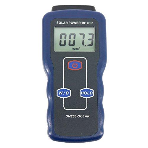 デジタルメーター ソーラーパワーメーター ライトメーター データホールド ピークホールド ガラス光強度 ソーラー放射テスター用 SM206 高精度テスター