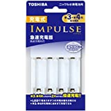 TOSHIBA 充電式IMPULSE 急速充電器 単3形・単4形兼用モデル 4本充電 倍速充電対応 TNHC-34HBC