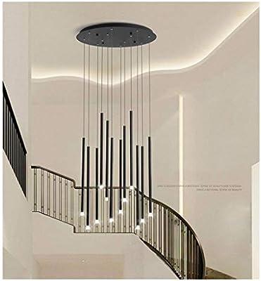 Lamparas de techo Lámpara de araña, Lámpara de escalera con fuente de luz LED, Lámpara de iluminación decorativa creativa moderna loft creativo simple,lamparas colgante (Color : A): Amazon.es: Iluminación