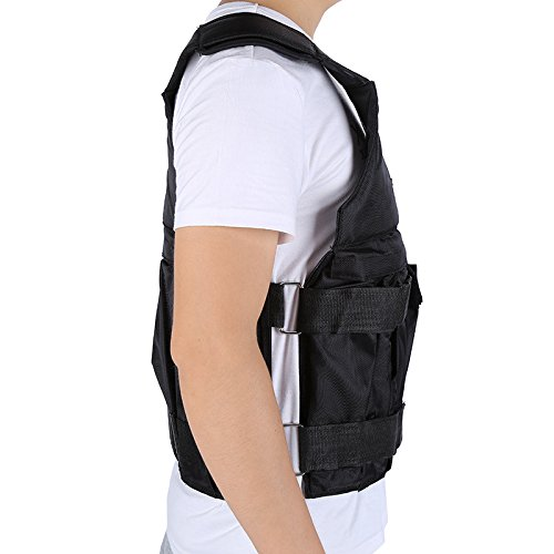 Black Adjustable Weight Training Jacket Weight Vest Workout Weighted Vest Exercise Fitness