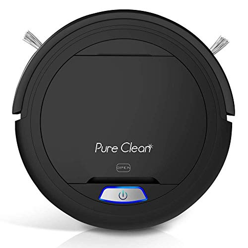 PUCRC26B Automatic Robot Vacuum Cleaner – Lithium Battery 90 Min Run Time – Robotic Auto Home Cleaning for Clean Carpet and Hardwood Floor Dry Mopping – HEPA Pet Hair Allergies Friendly – Pure Clean