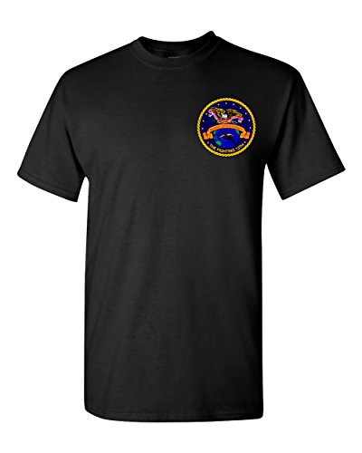Print Bar AZ USMC 13th MEU Thirteenth Marine Expeditionary Unit Insignia Shirt (Black, Large)