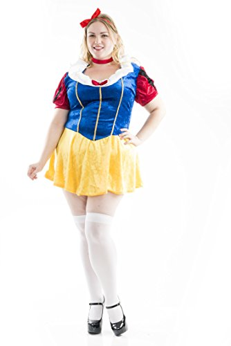 Charades Women's Snow White Plus Size Costume, As Shown, 3X