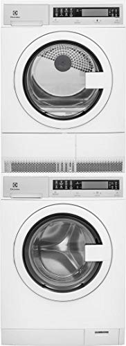 Electrolux White Compact Stacked Front Load Laundry Pair wit