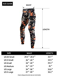 EU Men\'s Compression Tight Pants Base Layer Running Leggings Camo Green Large