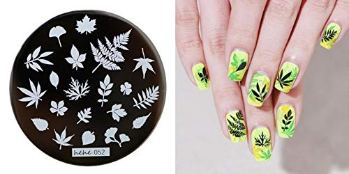 - Nail Art - 1PC Nail Stamping Plate Image Transfer Templates Stamp Tool Arbor Day
