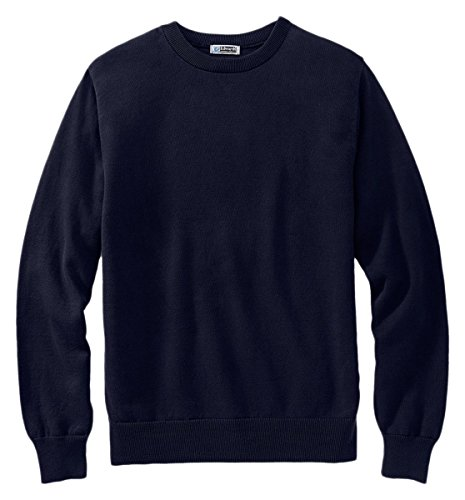 Ed Garments Men's Fine Gauge Crew Neck Sweater, NAVY, X-Large