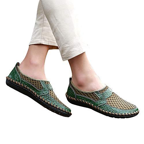 Guisantes Verde Deportivos Vaga De De Malla De Zapatos Onda Zapatos Pedales Transpirable Casual Zapatos ALIKEEYHombres fwP6qSf