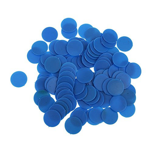 MagiDeal 100 Opaque Plastic Board Game Counters Tiddly winks