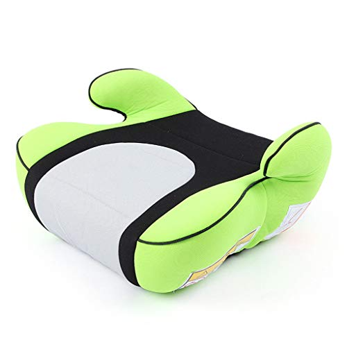 TMY highchairs Simple Booster Seat Increase Pad Portable Car Seat Kids Children Car Safety Seats Breathable Knitted Cotton Seat (Color : Green)