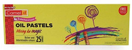 Camlin Kokuyo Oil Pastels Mixing Ka Magic Richer & Intermixable Colours 25 Shades