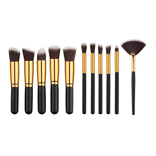 Yocitoy 10 Pcs Makeup Brush Set Cosmetic Brush Kits Conceale