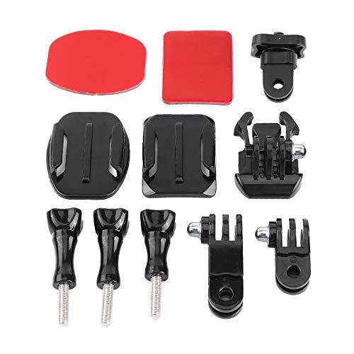 Resistente Riutilizzabile Leggero 11 in 1 Accessori per Action Camera Kit Adattatore Adattatore treppiede Fibbia a sgancio rapido per Action Cam Supporti Adesivi curvi Base Fibbia