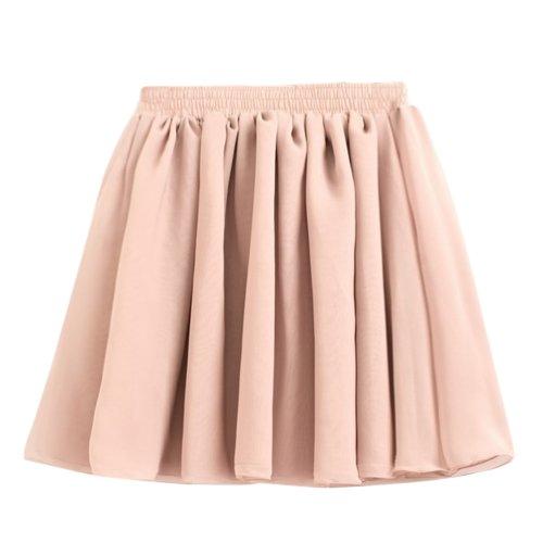 1faaeef8ca0857 Hee Grand Damen Retro Sexy Damen Chiffon Rock Faltenrock Minirock Tuellrock  Kurz Skirt Shan Shan xhipxjf