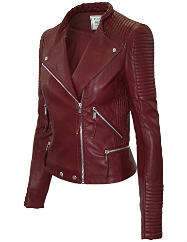 Quilted Leather Cropped - 3
