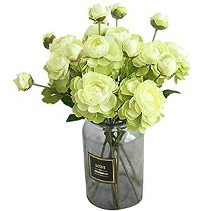 COLOV Wedding Bouquet Home Artificial Flower Artificial Flower Decoration(Green 14.17) 102
