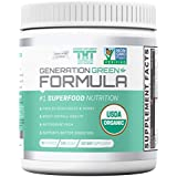 Generation Greens Powder-The Ultimate Organic Superfood Green Powder w/Over 60 Powerful Superfoods. (30 Serving, Original)