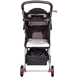 NEW 4 Wheels Pet Stroller Cat Dog Cage Stroller Travel Folding Carrier Black Color