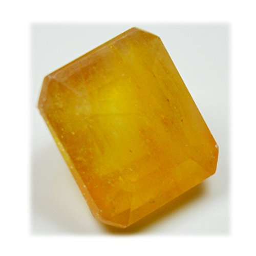 Real Yellow Sapphire Stone Astrological Loose Gemstone 6.35 Carat 10X8 MM Birthstone For Jewelry Making by 55Carat