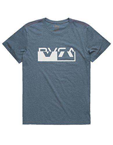 (RVCA Men's Co Brand Short Sleeve T-Shirt, Dark Denim XL)
