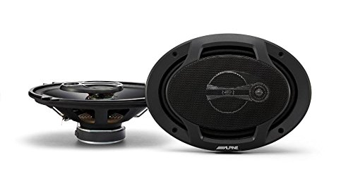 Alpine SPJ-691C3 Alpine 6 x 9 Inches Coaxial 3-Way Speaker, Set of 2 (Midrange Alpine Car Speakers)