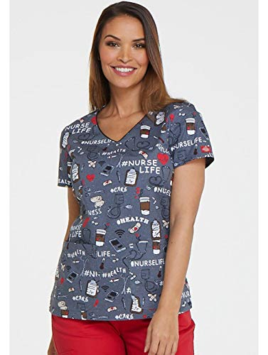 Top Scrub Nurse - Dickies Nurse Life V-Neck Top