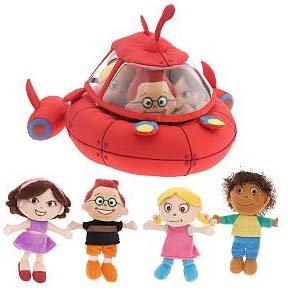 Disney Little Einsteins Plush Rocket w/ June, Leo, Quincy & Annie -