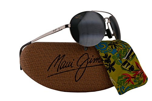 Maui Jim Pilot Sunglasses Silver w/Polarized Neutral Grey Lens - Jim Maui Pilots