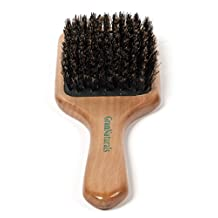 GranNaturals Boar Bristle Wooden Paddle Hair Brush